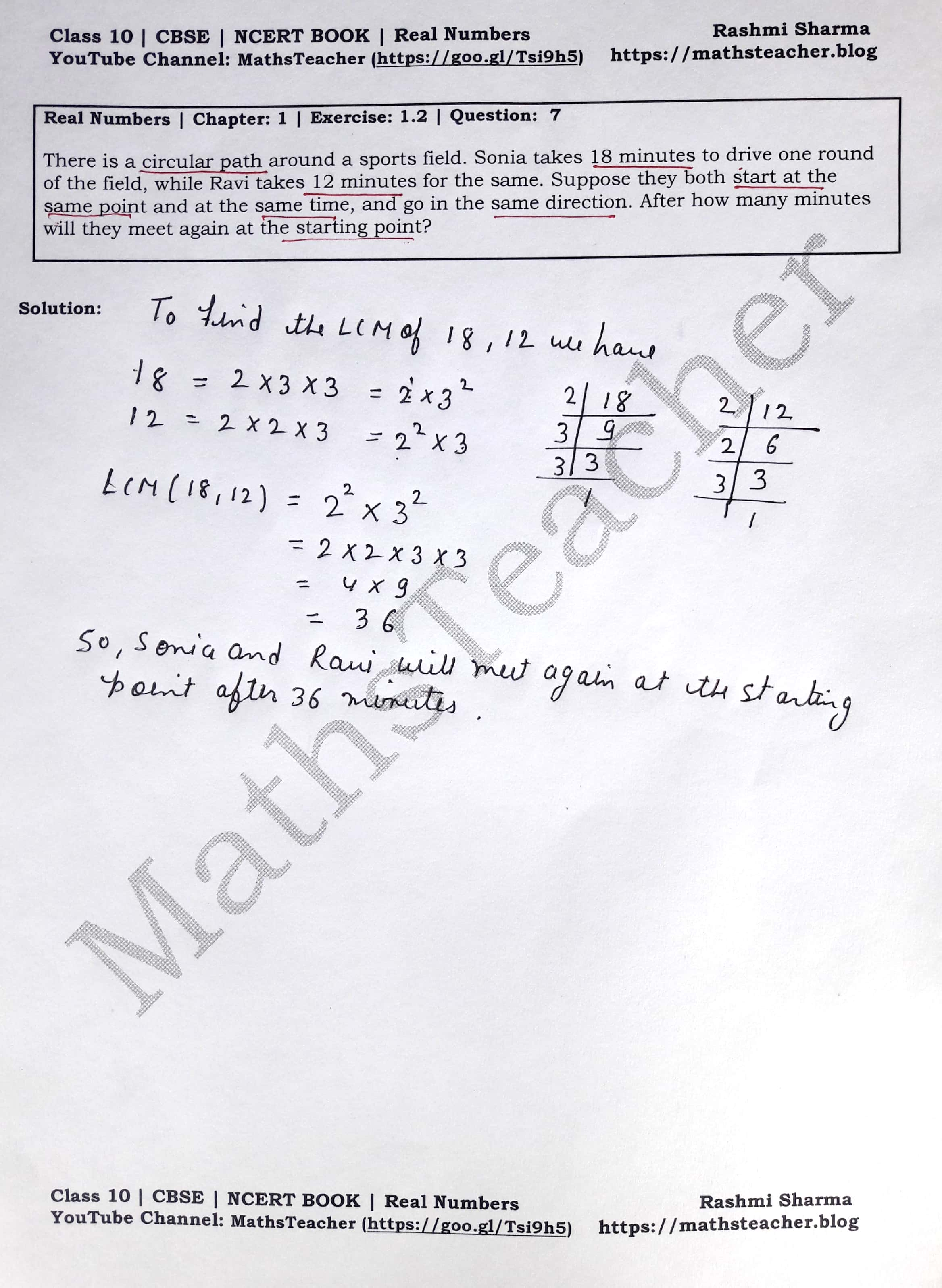 NCERT Solutions Class 10 Maths - Real Numbers | Chapter 1
